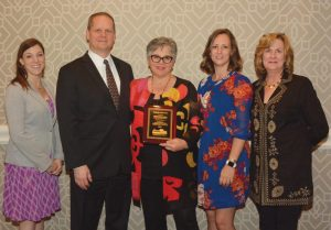 Pictured left to right: Megan Cartwright, EN director of retail; Kevin Kissling, EN president and CEO; Herbert E. Kahler Award-winner Kathleen Bond, superintendent of Natchez NHP; Helena Adcock, EN Southern regional manager; and Karen Peters, EN merchandising and store design manager.