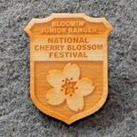 Eastern National donation funds were used to purchase Bloomin' Junior Ranger badges at the Cherry Blossom Festival.