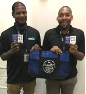 Daivon Brown and Arkile Jackson from Arlington National Cemetery were recognized for helping EN achieve our strategic plan goals.