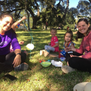 Visitors weaved their own baskets under the oak trees at Cane River Fall Fest. Photo: CRNHA