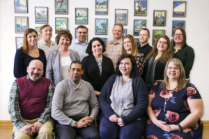 Members of the EN Point-of-Sale system selection committee. Top row, left to right: Pete Milovcich, Scott Grabus, Kevin Kissling, Stephen Drain, Lee Pettey. Middle row: Megan Shelley, Cathy Nagle-Ervin, Corinna Richards, Heidi White, Erin Sweeney. Bottom row: James Gilligan, Rafael Vasquez, Erin Nolan, Aimee Meadows.